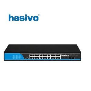 Switch Fiber Gigabit Hasivo S5800-24G-2S
