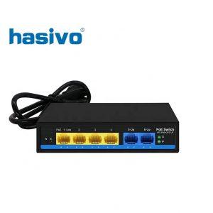 Unmanaged Switch PoE HASIVO S600P-4F-2F-SE