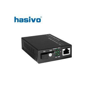 Bộ chuyển đổi quang điện 1 sợi quang Gigabit HASIVO SW108GM AB
