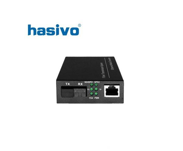 Bộ chuyển đổi quang điện 2 sợi quang Gigabit HASIVO SW108GM